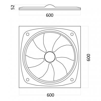 Гипсовая 3D панель FALLOUT 600x600x52 мм