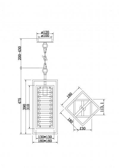 Подвесной светильник Maytoni MOD060PL-01G