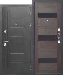 Дверь Ferroni 10 см Троя Серебро Темный Кипарис