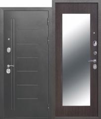 Дверь Ferroni 10 см Троя Серебро МАКСИ зеркало Венге