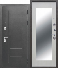 Дверь Ferroni 10 см Троя Серебро МАКСИ зеркало Белый ясень
