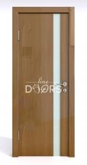Дверь межкомнатная DO-507 Анегри темный/стекло Белое