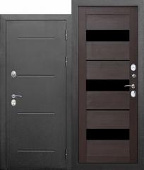 Входная морозостойкая дверь Ferroni c ТЕРМОРАЗРЫВОМ 11 см Isoterma СЕРЕБРО Темный кипарис