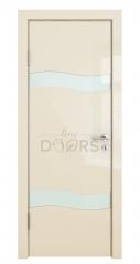 ШИ дверь DO-603 Ваниль глянец/стекло Белое