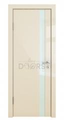 ШИ дверь DO-607 Ваниль глянец/стекло Белое