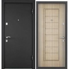 Дверь TOREX X3 Темно-серый букле графит / Венге светлое