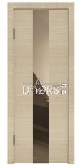 Дверь межкомнатная DO-510 Неаполь/зеркало Бронза