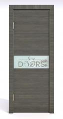 Дверь межкомнатная DO-509 Ольха темная/стекло Белое