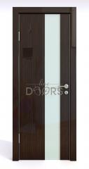 Дверь межкомнатная DO-504 Венге глянец/стекло Белое