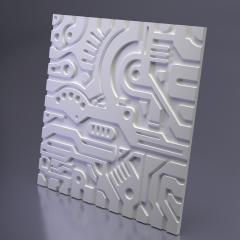 Гипсовая 3D панель EX-MACHINA B 600x600x20 мм