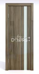 ШИ дверь DO-607 Сосна глянец/стекло Белое