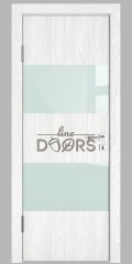 ШИ дверь DO-608 Белый глубокий/стекло Белое
