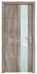 Дверь межкомнатная TL-DO-504 Кипарис/стекло Белое