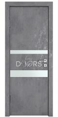 Дверь межкомнатная DO-512 Бетон темный/Снег