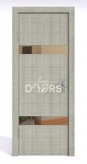 ШИ дверь DO-602 Серый дуб/зеркало Бронза
