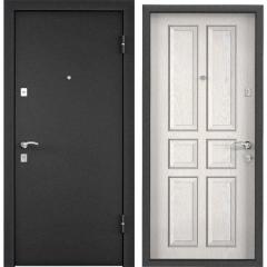 Дверь TOREX X3 Темно-серый букле графит / Белое дерево