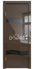 ШИ дверь DO-603 Шоколад глянец/стекло Черное