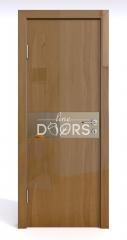 Дверь межкомнатная DO-509 Анегри темный/зеркало Бронза