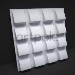 Гипсовая 3D панель Tile 600x600x40 мм