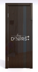 ШИ дверь DO-607 Венге глянец/стекло Черное