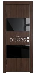 Дверь межкомнатная DO-508 Мокко/стекло Черное