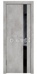ШИ дверь DO-607 Бетон светлый/стекло Черное