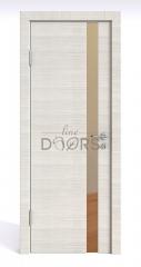 Дверь межкомнатная DO-507 Ива светлая/зеркало Бронза