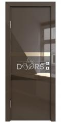 Дверь межкомнатная DO-512 Шоколад глянец/зеркало Бронза