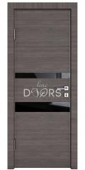 Дверь межкомнатная DO-512 Ольха темная/стекло Черное