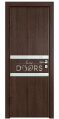 Дверь межкомнатная DO-513 Мокко/стекло Белое