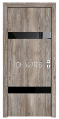 Дверь межкомнатная TL-DO-502 Кипарис/стекло Черное