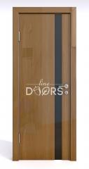 Дверь межкомнатная DO-507 Анегри темный/стекло Черное