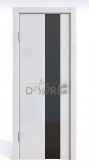 ШИ дверь DO-604 Белый глянец/стекло Черное