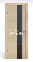 Дверь межкомнатная DO-504 Неаполь/стекло Черное