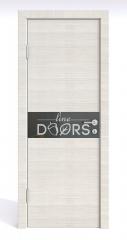 ШИ дверь DO-609 Ива светлая/стекло Черное