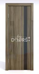 Дверь межкомнатная DO-507 Сосна глянец/стекло Черное