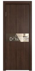 Дверь межкомнатная DO-509 Мокко/зеркало Бронза