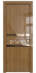 Дверь межкомнатная DO-513 Анегри темный/зеркало Бронза