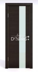 ШИ дверь DO-604 Венге горизонтальный/стекло Белое