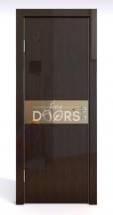 Дверь межкомнатная DO-509 Венге глянец/зеркало Бронза