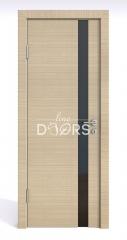 Дверь межкомнатная DO-507 Неаполь/стекло Черное
