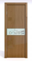 ШИ дверь DO-609 Анегри темный/стекло Белое