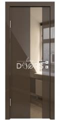 ШИ дверь DO-604 Шоколад глянец/зеркало Бронза