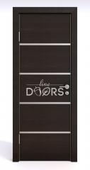 Дверь межкомнатная DG-505 Венге горизонтальный
