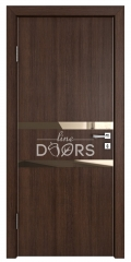 Дверь межкомнатная DO-513 Мокко/зеркало Бронза