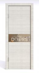 ШИ дверь DO-609 Ива светлая/зеркало Бронза