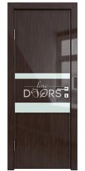 Дверь межкомнатная DO-512 Венге глянец/стекло Белое