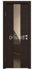 Дверь межкомнатная DO-510 Венге горизонтальный/зеркало Бронза