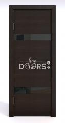 ШИ дверь DO-602 Венге горизонтальный/стекло Черное