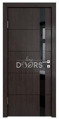 Дверь межкомнатная TL-DO-507 Акация/стекло Черное